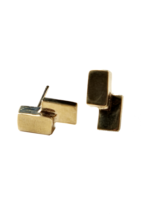 The Things We Keep - Tate Studs Brass