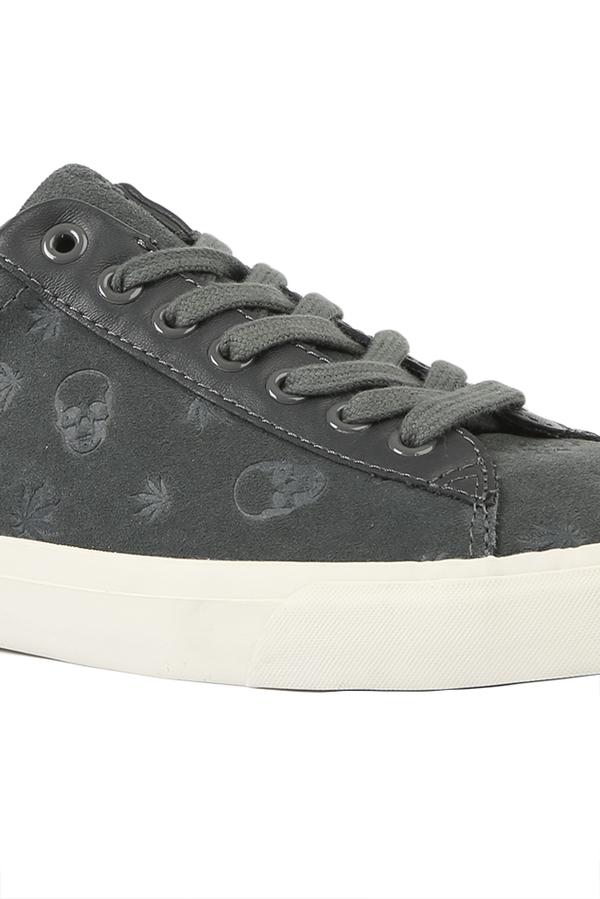 Lucien Pellat-Finet Monogram Suede Low Sneaker Shoes - Grey