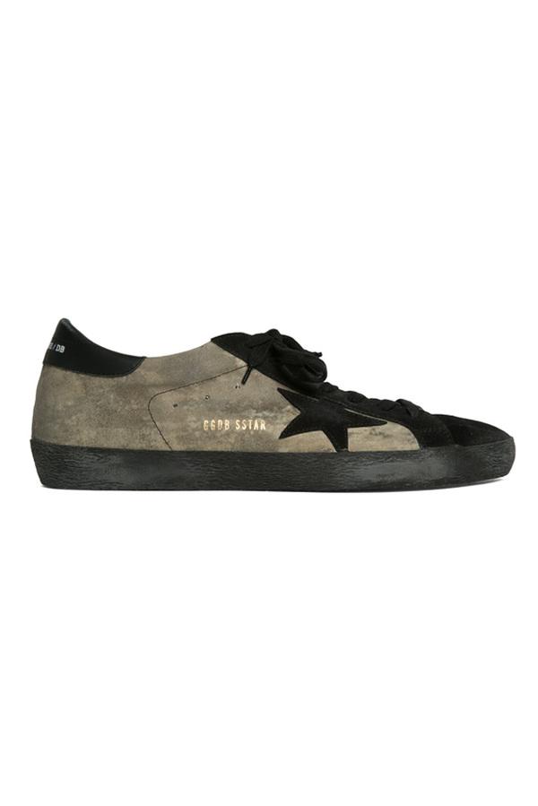Golden Goose Superstar Sneaker Shoes - Camouflage Suede/Black Star