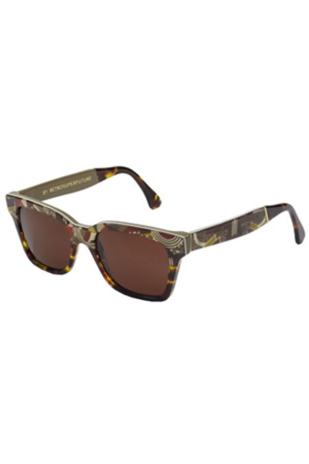 RetroSuperFuture Super America Deco Sunglasses - Multi/Green