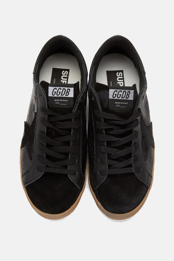 Golden Goose Superstar Sneaker Shoes - Black Snake Print
