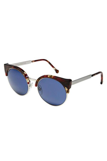 RetroSuperFuture Super Lucia Red Havana Sunglasses - Red/Blue