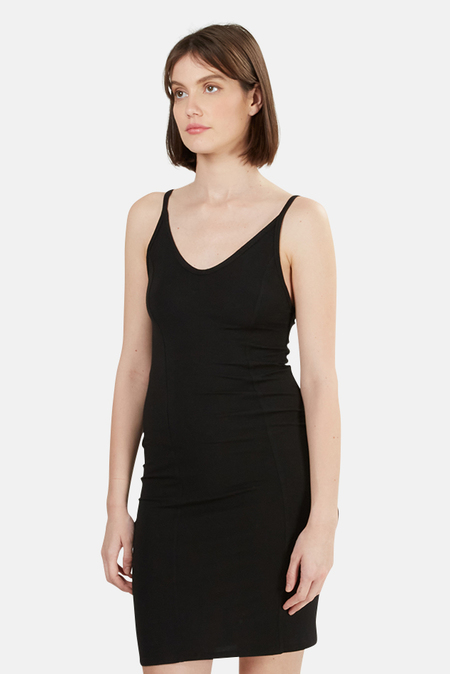 T by Alexander Wang Detail Stitch Stretch Dress - Black