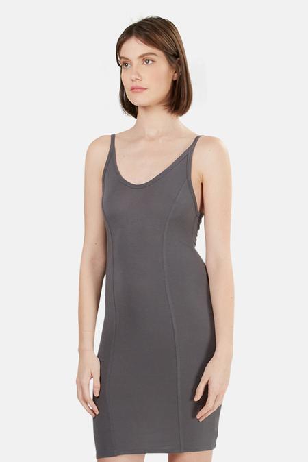 T by Alexander Wang Detail Stitch Stretch Dress - Steel