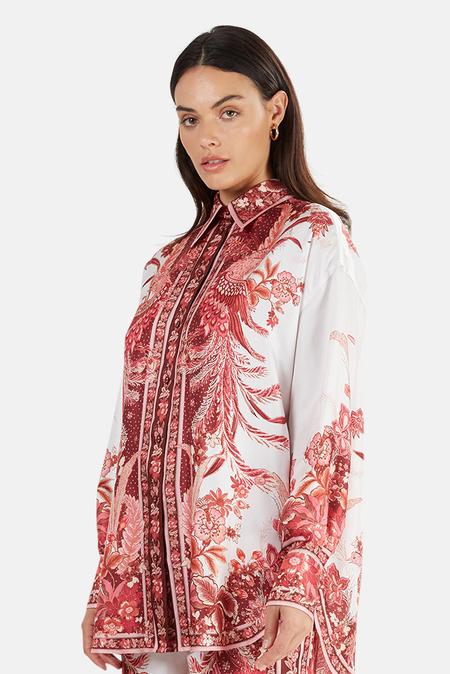 Zimmermann Wavelength Placement Shirt - Pink Phoenix