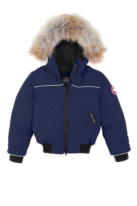 Kids Canada Goose Grizzly Bomber - Pacific Blue