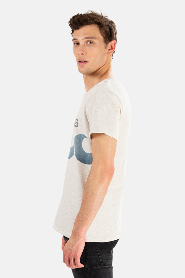 Remi Relief x Blue&Cream Hamptons Wave Graphic T-Shirt - Oatmeal