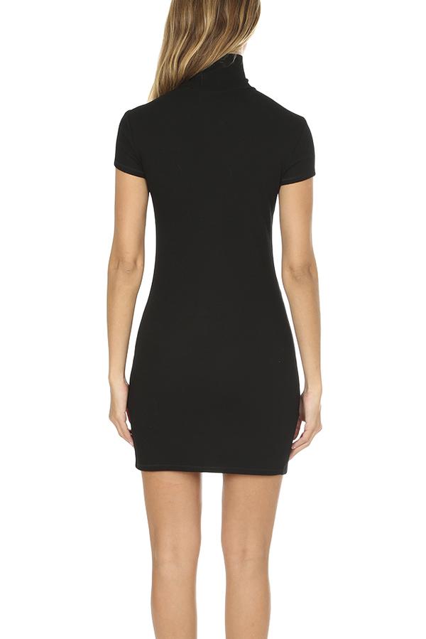 Helmut Lang Cutout Wool Dress - Black