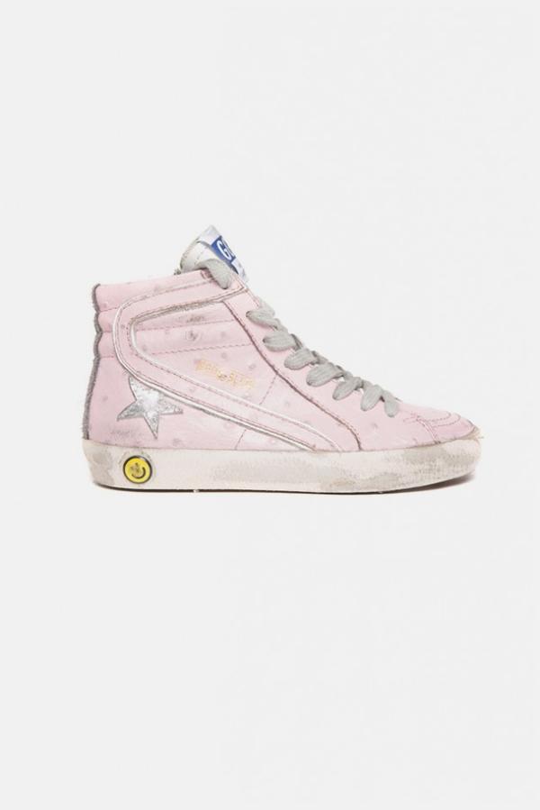 Kids Golden Goose Slide Sneaker - Pink