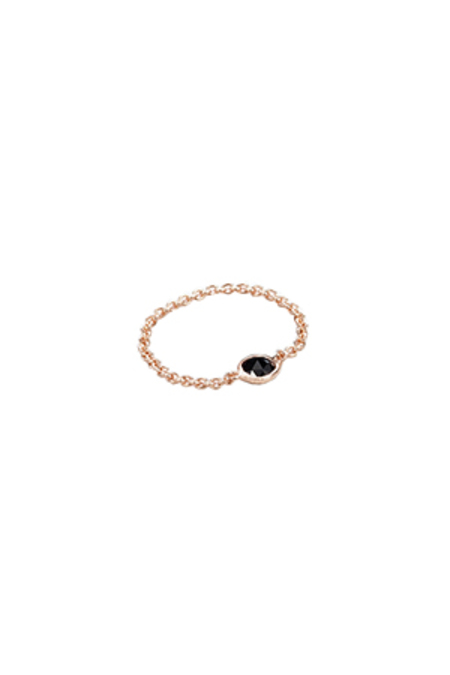 GRACELETTE NYC Rose Gold Chain Ring - 18 K Rose Gold Plated