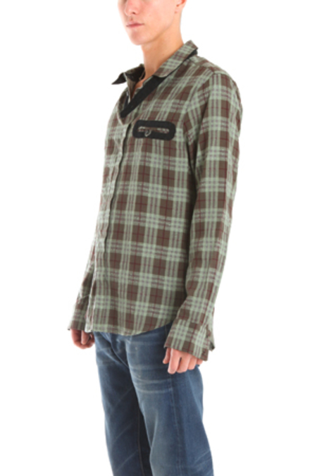 Nicholas K Kerk Shirt - Green Plaid