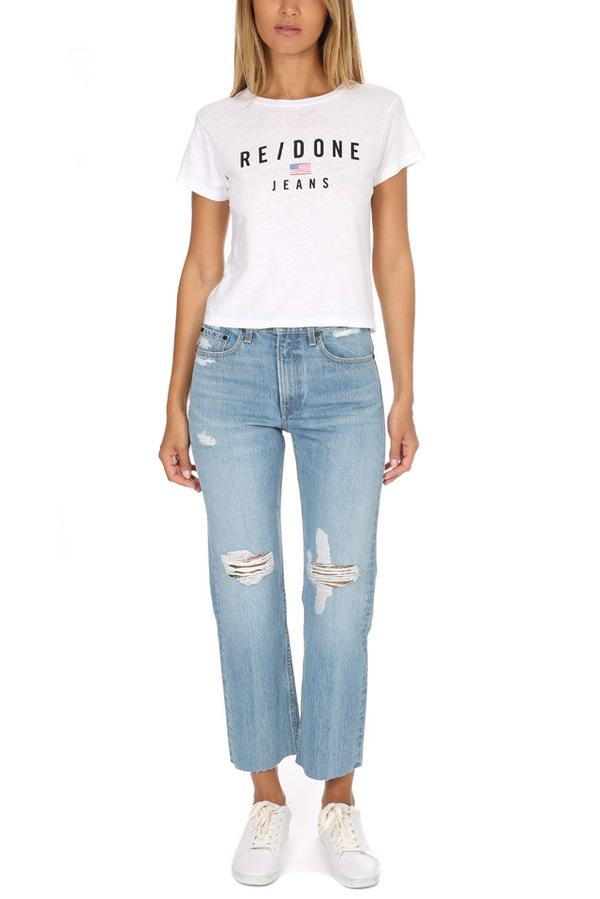 Rag & Bone Straight Distressed Jeans - Shaker