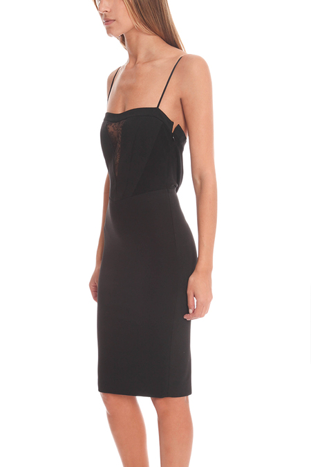 NOAM HANOCH Lara Cowl Slip Dress - Black