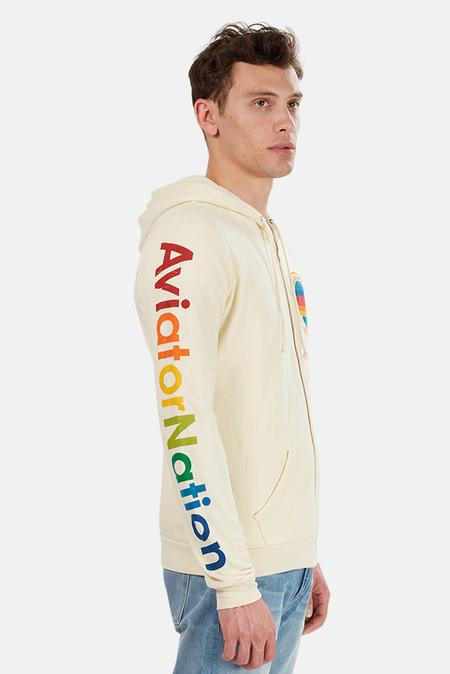 Aviantor Nation Zip Hoodie - Vintage White