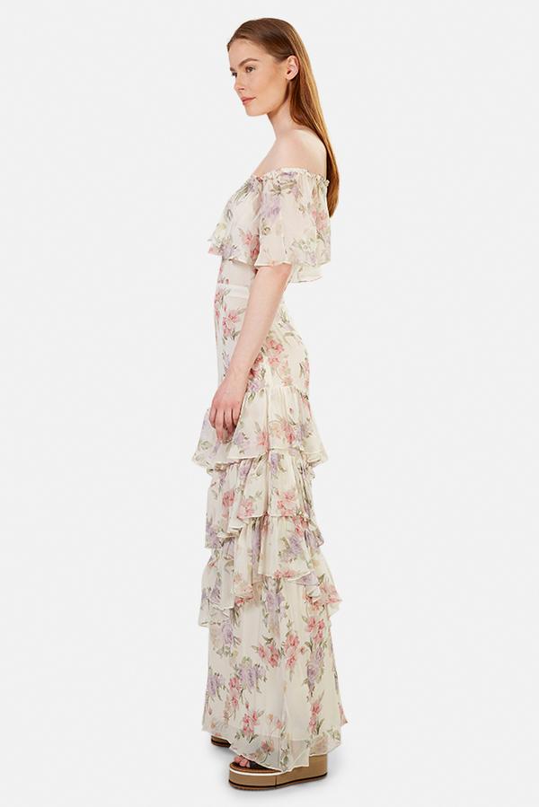 LoveShackFancy Plum Dress - Almond