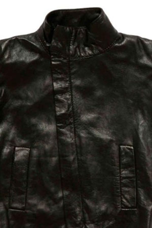 Kids Nununu Second Skin Leather Jacket - Black