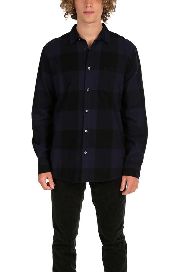Robert Geller Dyed Plaid Shirt - Navy