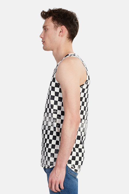 Jungmaven Checkerboard Tank Top - Black