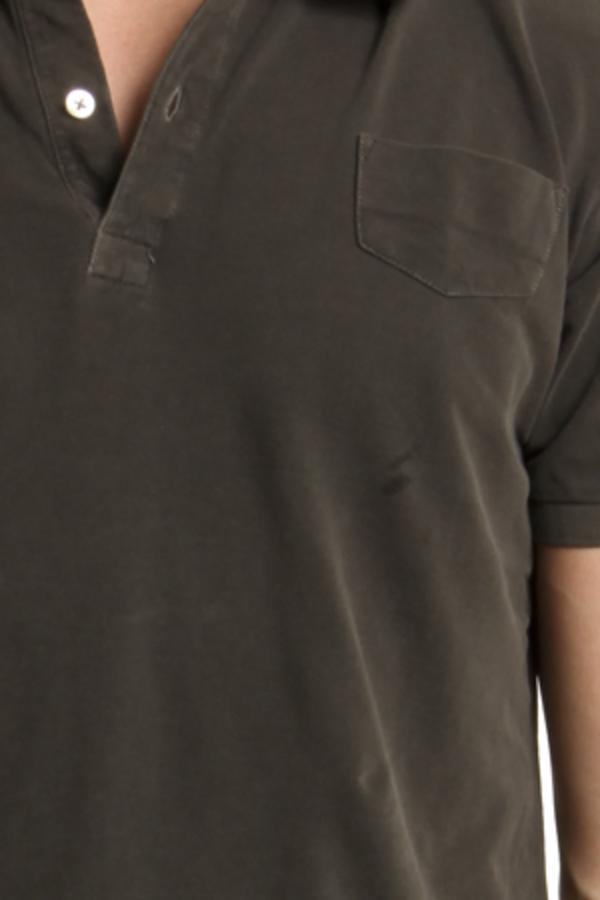V :: ROOM Pique Polo Top - Charcoal