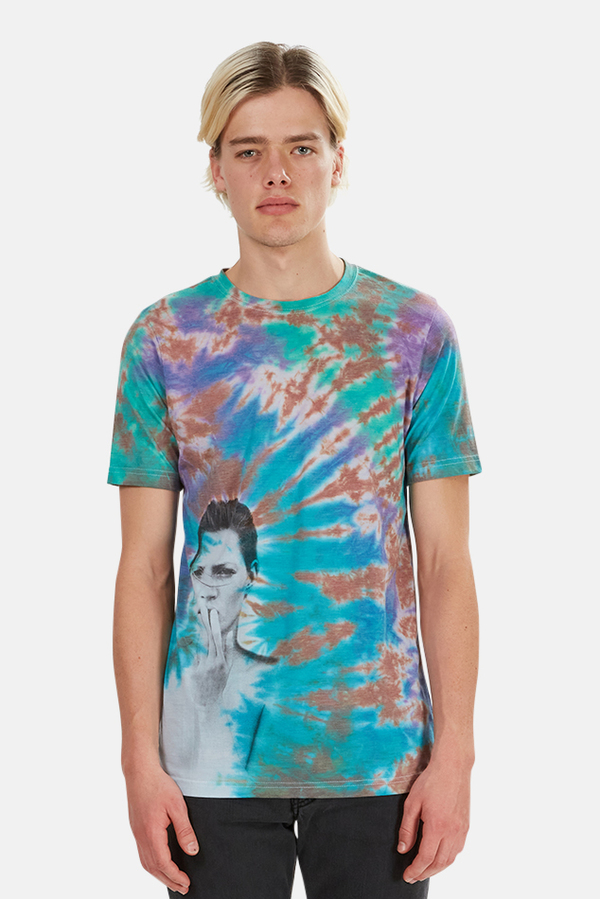 Blue&Cream Obsession Graphic Tee - Tie Dye
