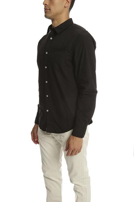 JACHS Alfonso Button Down Shirt - Jet Black