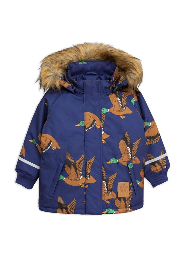 Kids Mini Rodini K2 Wild Duck Parka - Navy