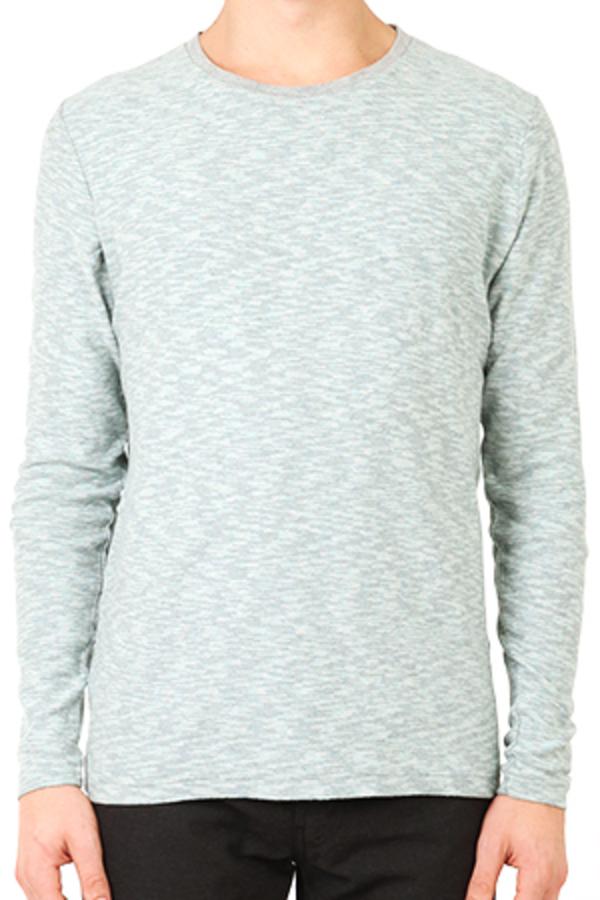 V::Room Kasuri Crewneck Shirt - Blue/Grey