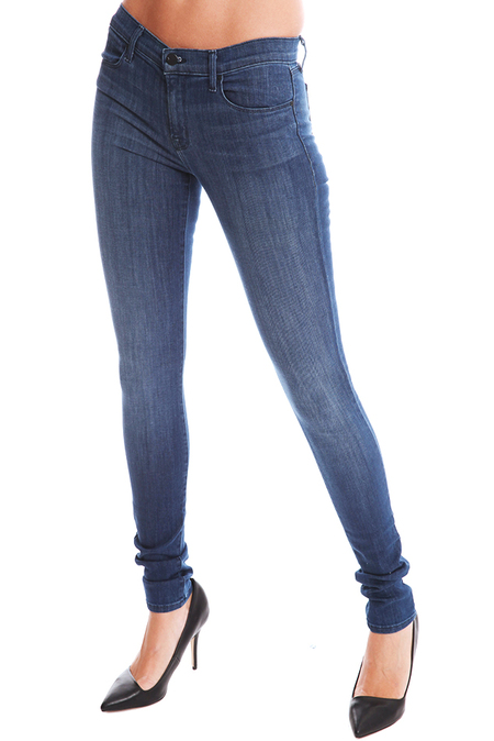 J Brand Mid Rise Stacked Skinny Jean - Blue