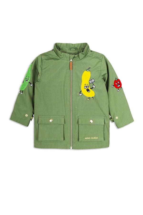 Kids Mini Rodini Veggie Patch Jacket - Green