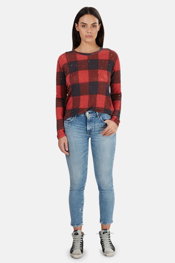 IRO Marvina T-Shirt - Buffalo Check