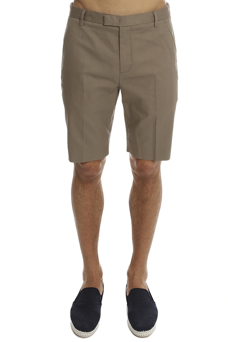 Helmut Lang Straight Leg Trouser Short - Dark Sand
