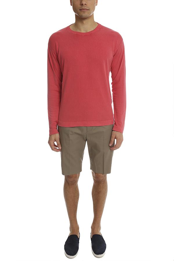 Helmut Lang Straight Leg Trouser Short - Dark Sand