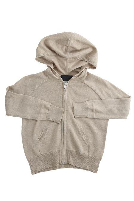 Kids Blue&Cream Autumn Cashmere Zip Hoody - Natural