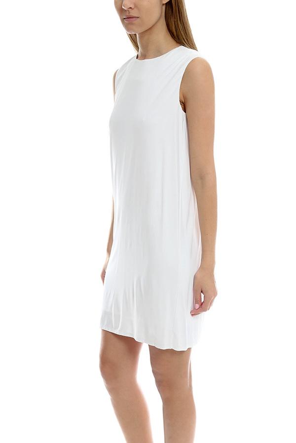 Helmut Lang V Back Dress - Optic White