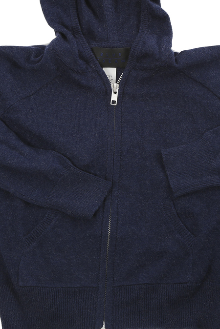 Blue&Cream Autumn Cashmere Zip Hoody - Navy