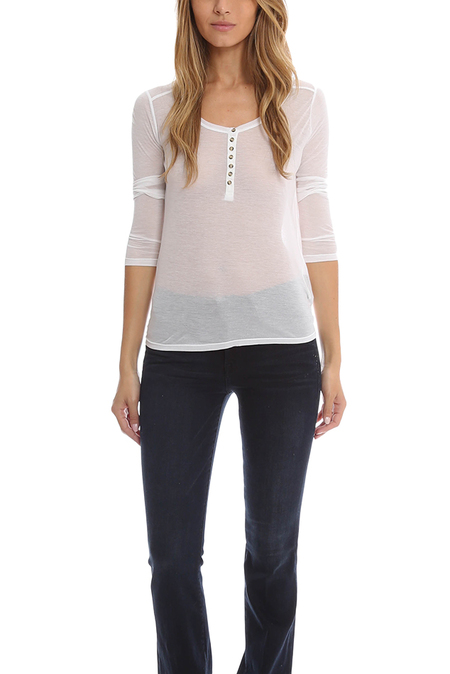 T by Alexander Wang Long Sleeve Tee - White