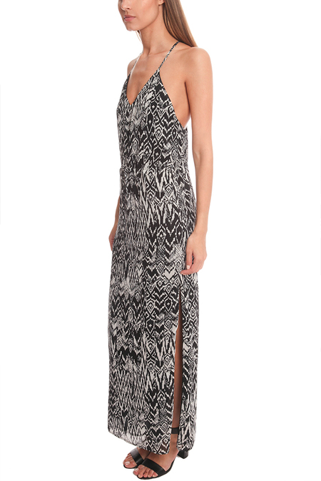 IRO Dahlia Ikat Print Dress - Black/White