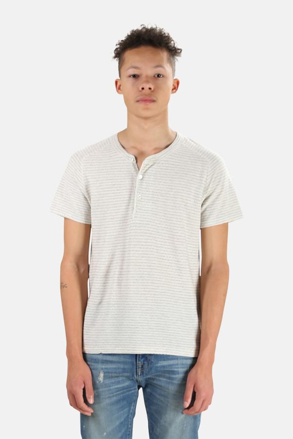 Henleys V::ROOM Henley T-Shirt - Beige