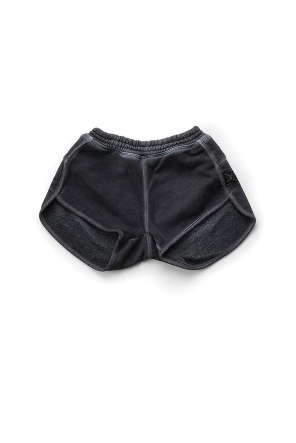 Kids Nununu Dyed Gym Shorts - Dyed Graphite