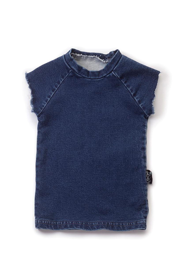 Kids Nununu Muscle Shirt - Denim