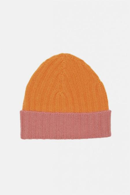 Warm-ME Eric Block Hat - Orange/Pink