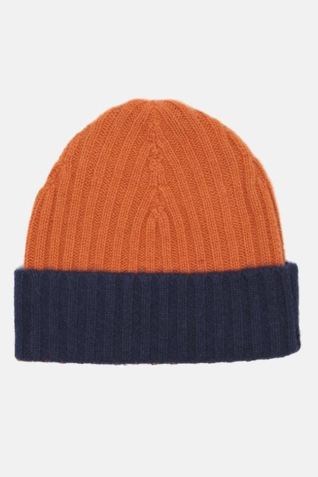 Warm-ME Eric Block Hat - Orange/Navy