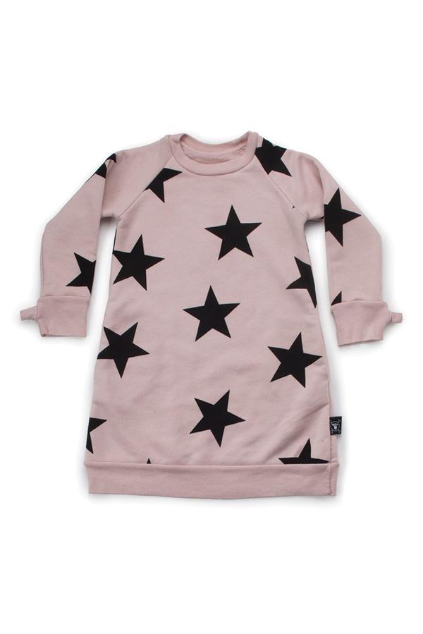 Kids Nununu Star A Dress - Pink