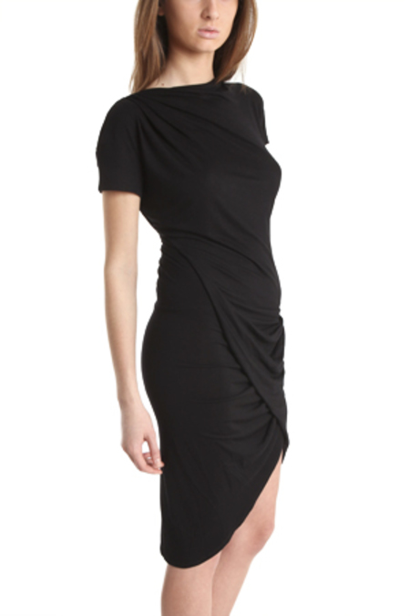 Aminaka Wilmont Short Sleeve Drape Dress