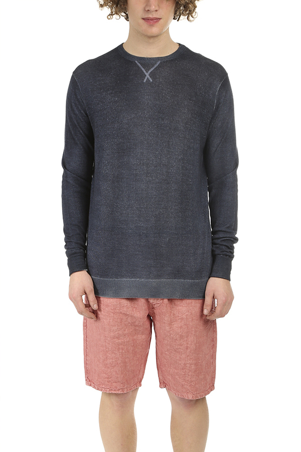 PRESIDENTS Wool Cashmere Sweater - Navy Blue