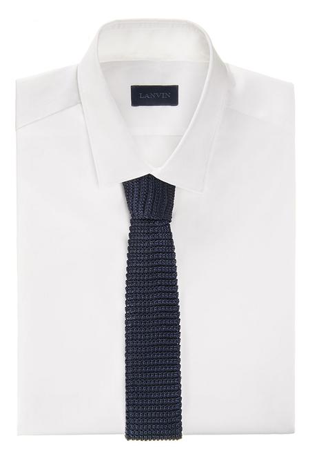 Lanvin Square End Tie - Blue