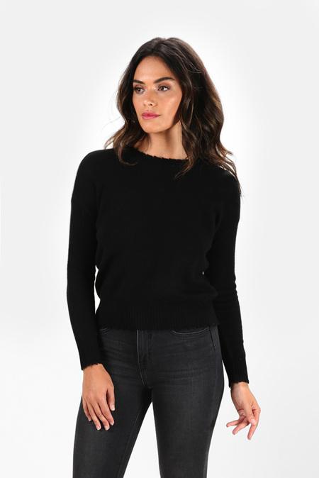 Minnie Rose Cashmere Crewneck Sweater - Black