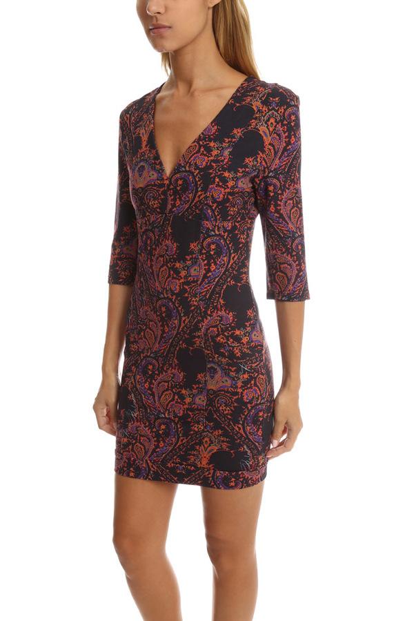 Pierre Balmain Deep V Printed Dress - Multi