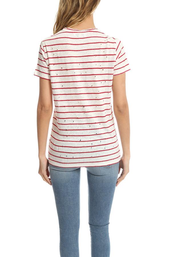 IRO Mina T-Shirt - Ecru/Red