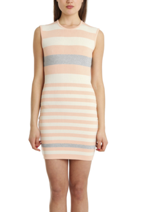Camilla and Marc Exemption Dress - Peach/White/Silver